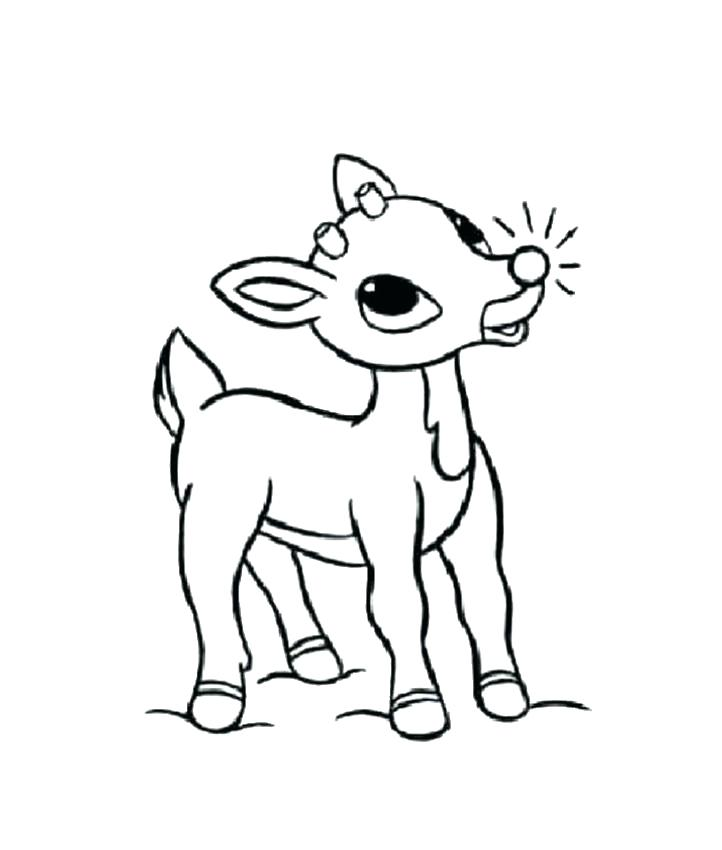 722x850 Rudolph The Red Nosed Reindeer Coloring Page Reindeer Coloring