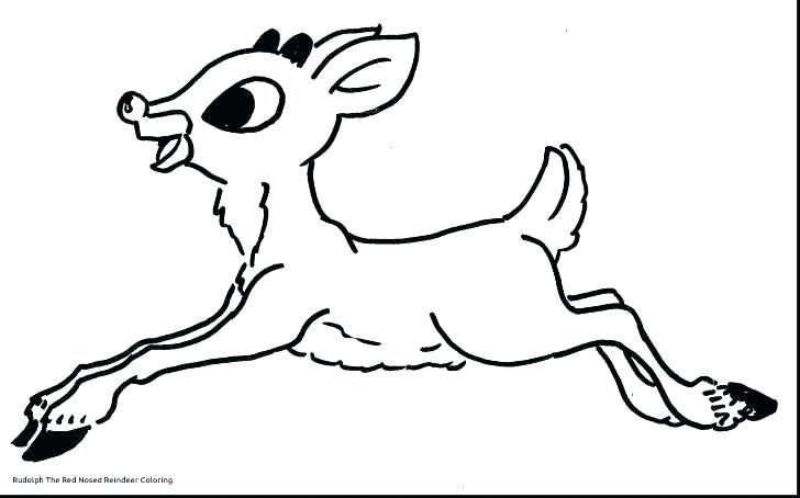 728x454 Reindeer Coloring Pages The Red Nosed Reindeer Coloring Page
