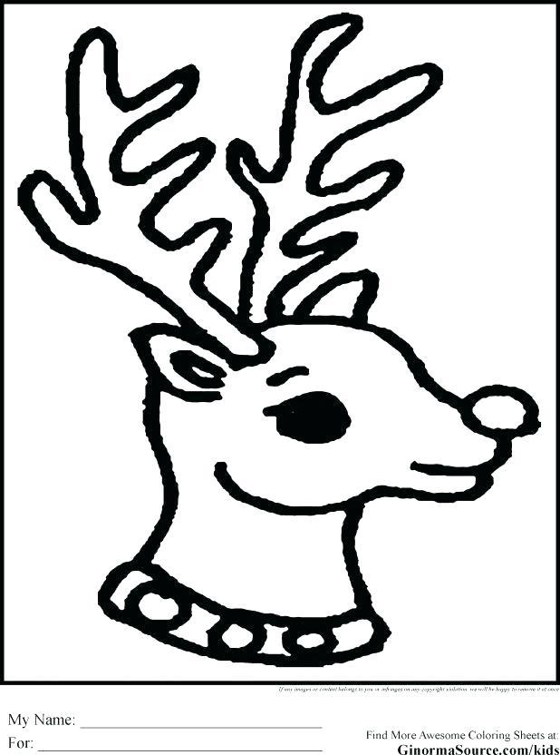 618x832 Reindeer Head Coloring Page Coloring Pages Of Reindeer Coloring