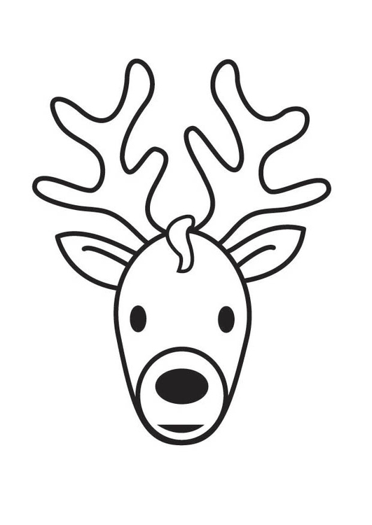 531x750 Coloring Page Stag Head