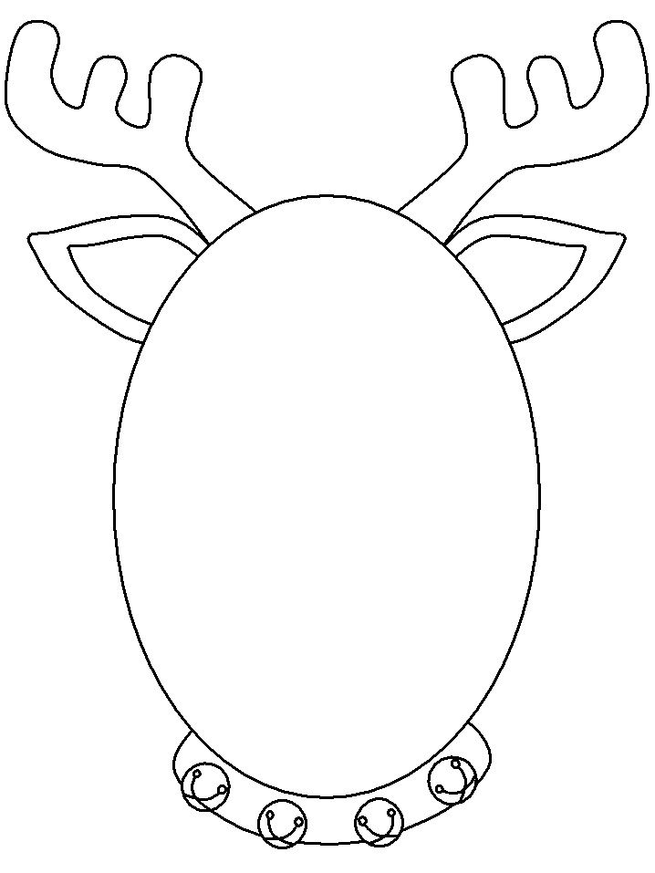 Reindeer Head Coloring Pages Printable