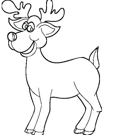 418x476 Free Printable Reindeer Coloring Page For Kids Free Printable