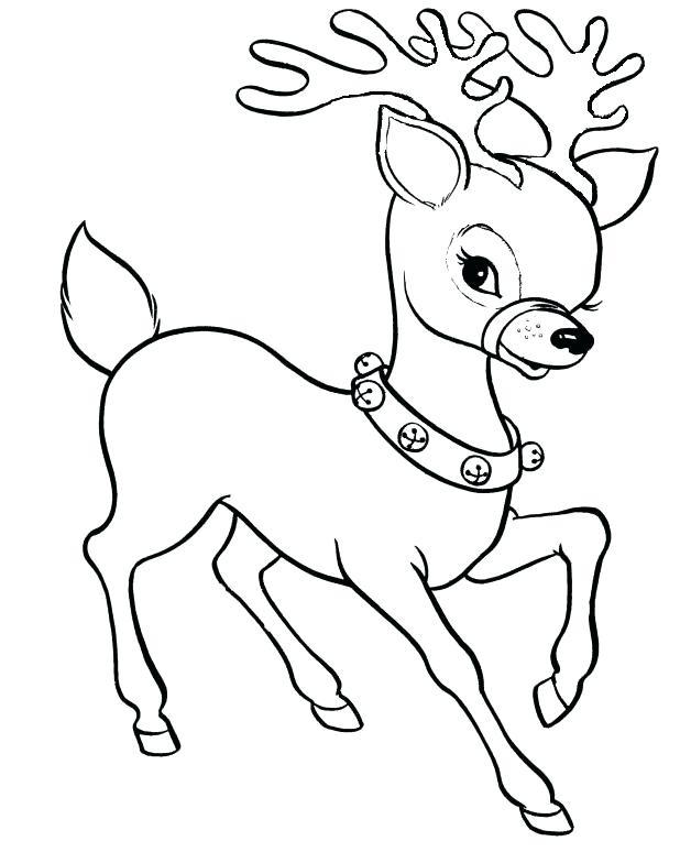 618x784 Free Reindeer Coloring Pages Free Printable Reindeer Coloring Page