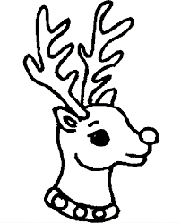 202x249 Image Result For Reindeer Head Coloring Pictures Free Christmas