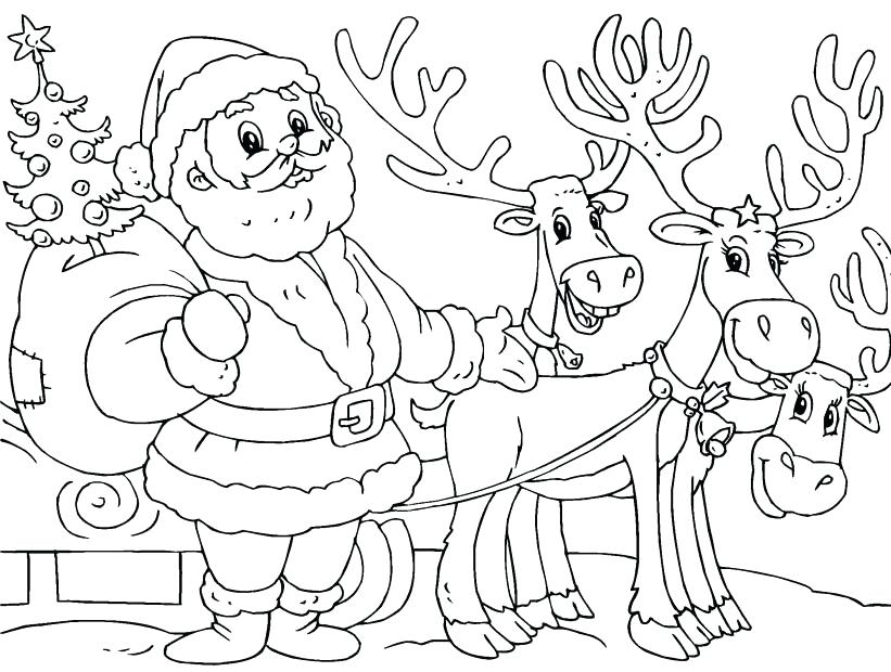 821x620 Raindeer Coloring Pages Little The Red Nosed Reindeer Coloring