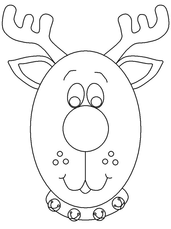 600x800 Reindeer Coloring Pages