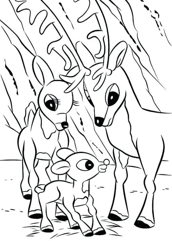 600x840 Reindeer Coloring Pages
