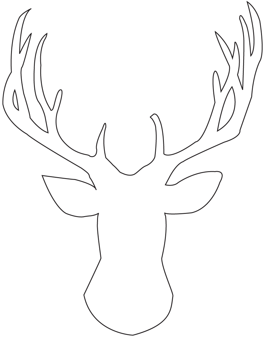 850x1073 Coloring Pages Deer Head Coloring Pages