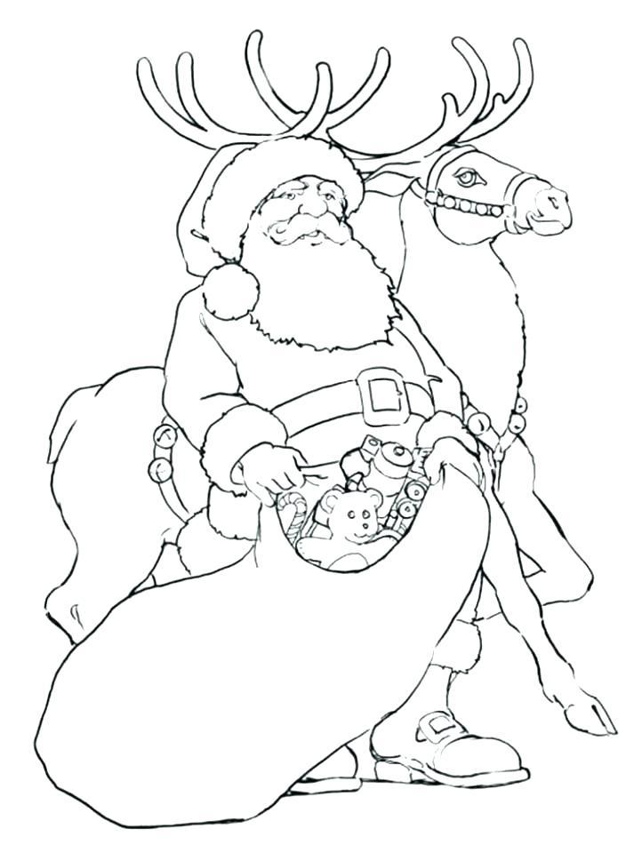 Reindeer Printable Coloring Pages