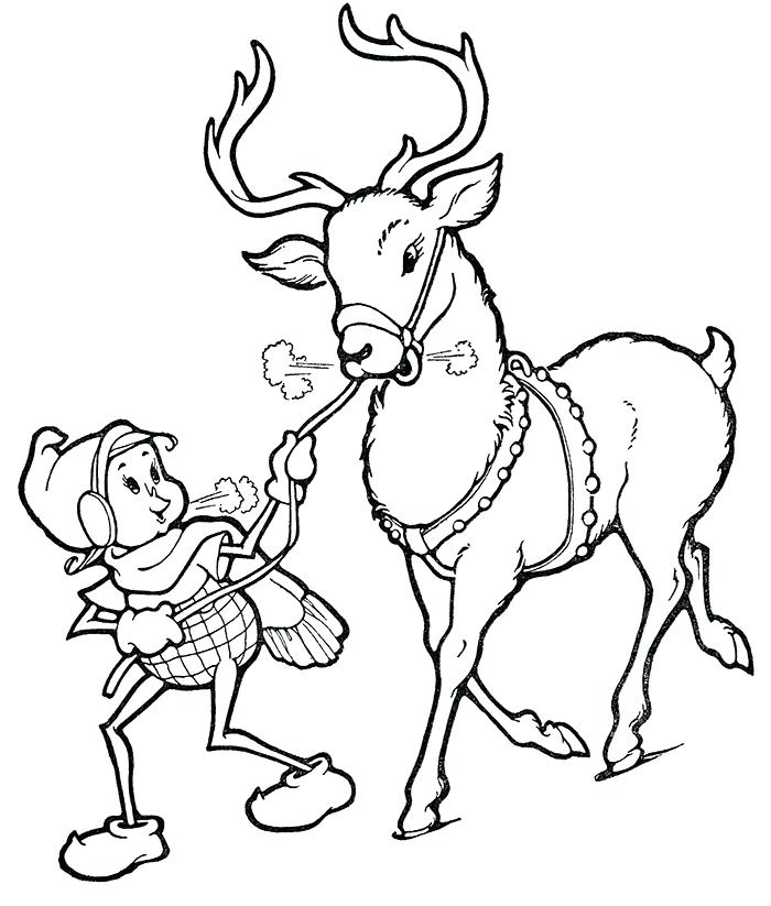700x823 Printable Coloring Pages Printable Coloring Pages Reindeer