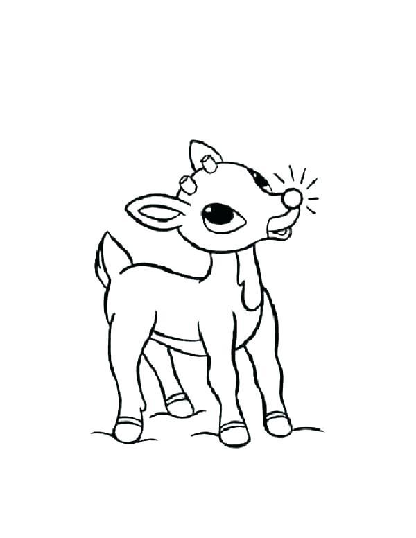 600x776 Reindeer Coloring Page Reindeer Coloring Pages Reindeer Coloring