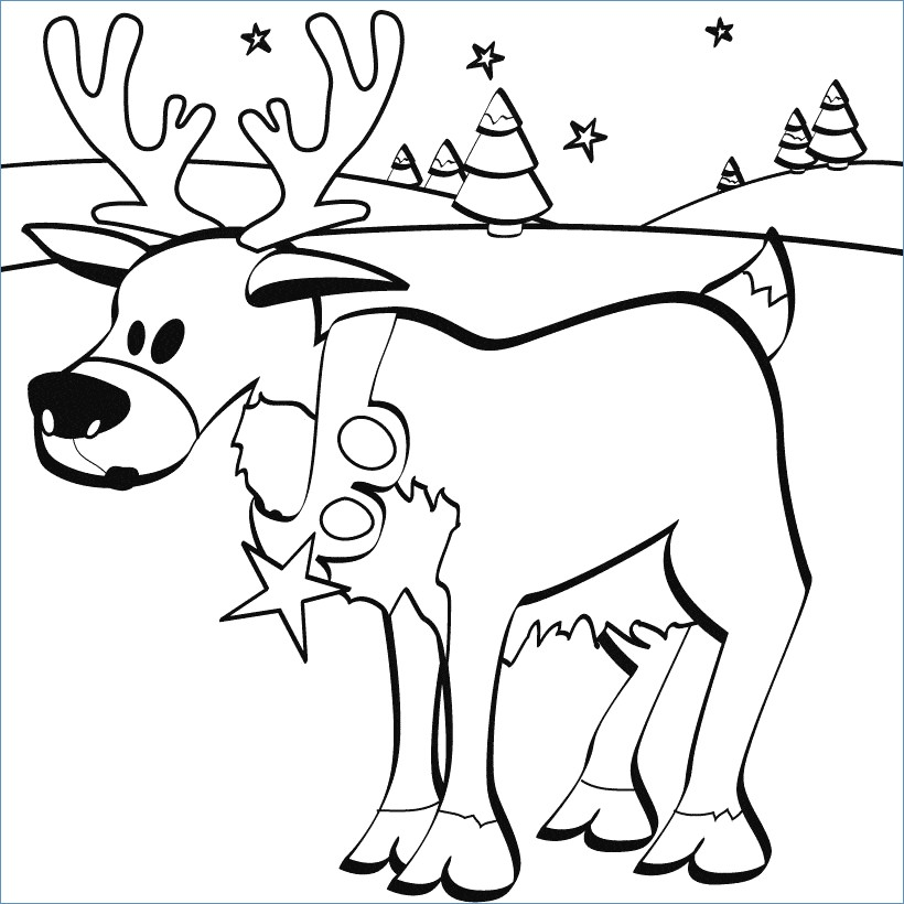 820x820 Rudolph And Santa Leigh Reindeers Coloring Page