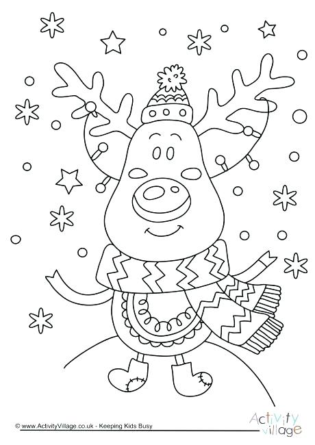 460x650 Christmas Coloring Pages Reindeer Coloring Page Reindeer Christmas