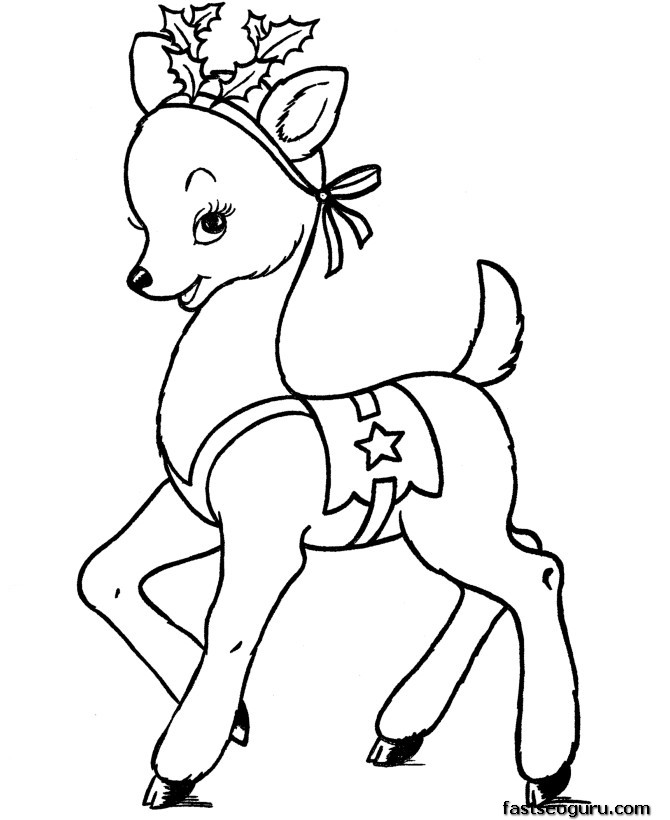 670x820 Coloring Pages Reindeer Coloring Pages Santa