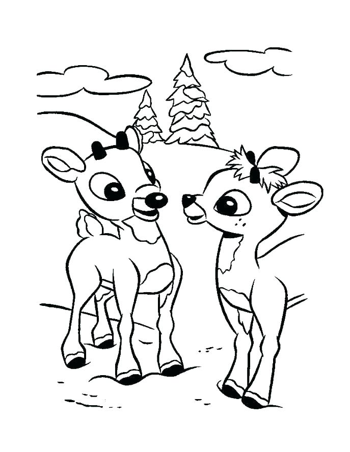 687x888 Coloring Pages Reindeer Coloring Pages Reindeer Coloring Pages