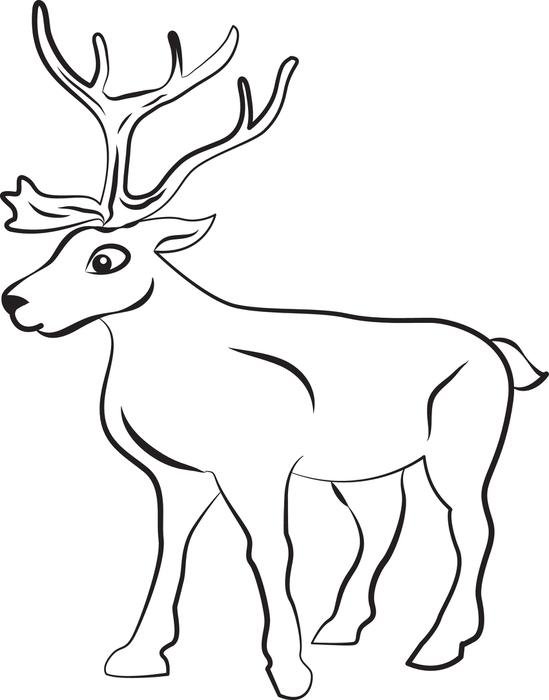 549x700 Cute Reindeer Free Printable Coloring Pages Christmas Intended