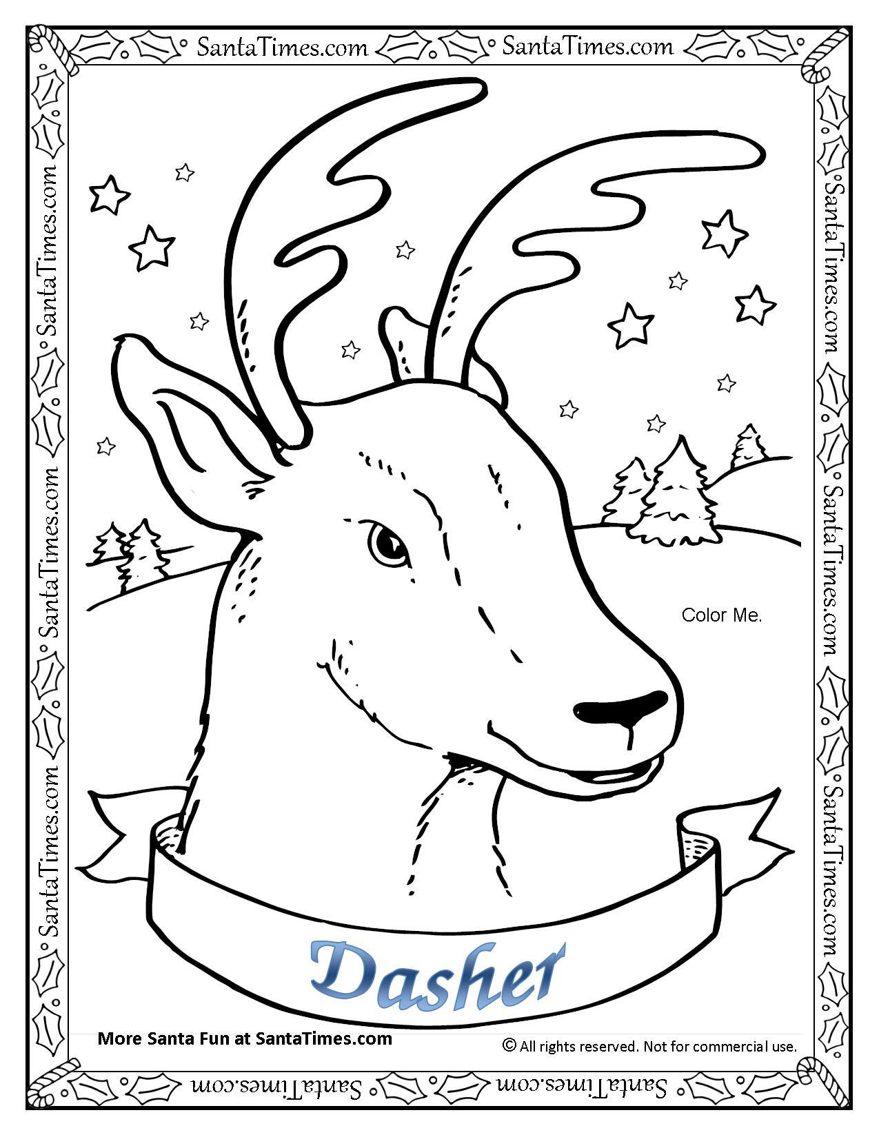 1275x1650 Dasher The Reindeer