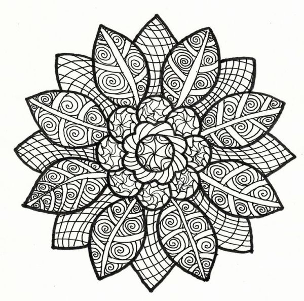600x593 Advanced Coloring Pages For Adults Coloring Page Because It