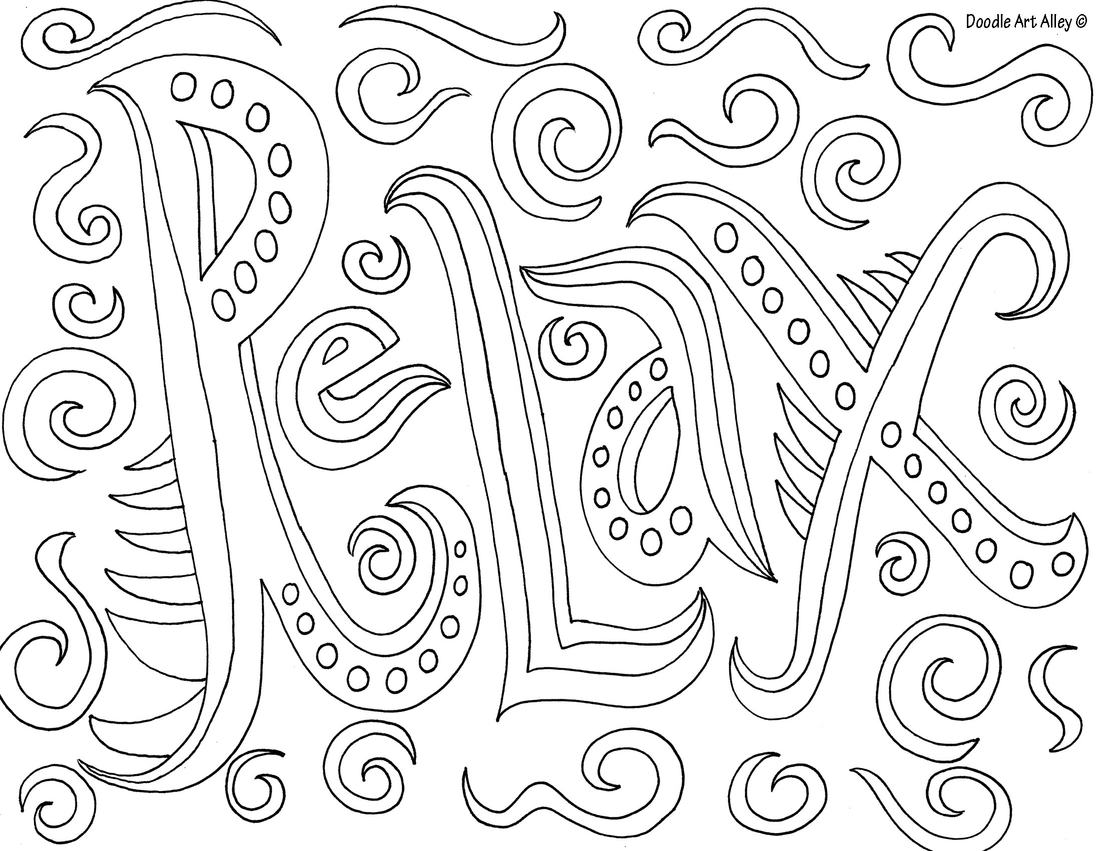 2200x1700 Relaxing Coloring Pages Scott Fay Com Inside