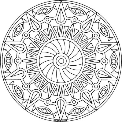 399x396 Bring These Magnificent Free Mandala Templates To Life