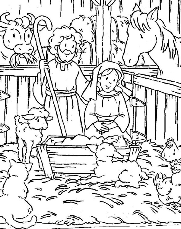 Religious Christmas Coloring Pages For Kids at GetDrawings