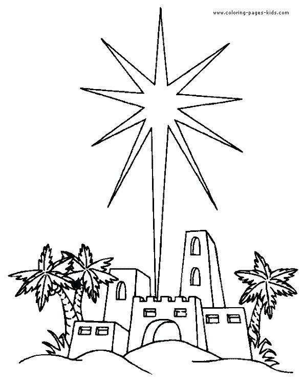 Religious Christmas Coloring Pages For Kids At Getdrawings Com