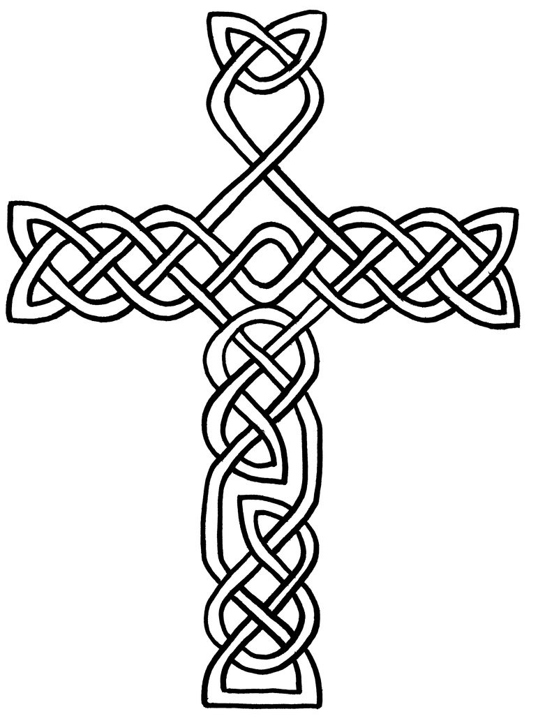 Religious Cross Coloring Pages