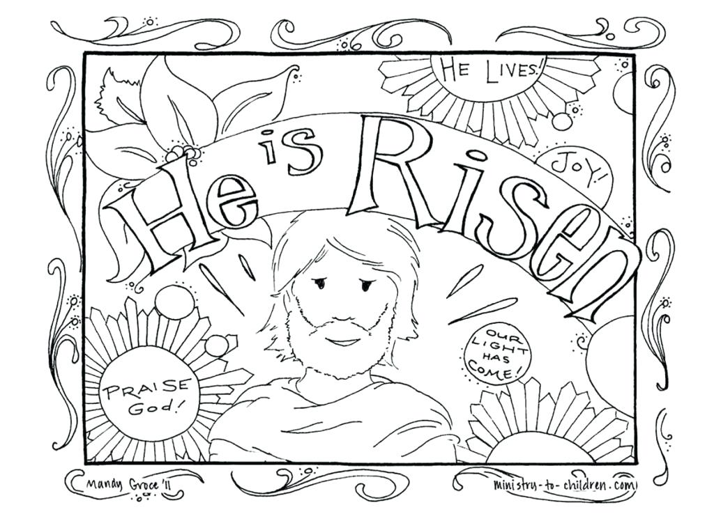 1024x748 Easter Coloring Pages Jesus Is Alive Coloring Page Images