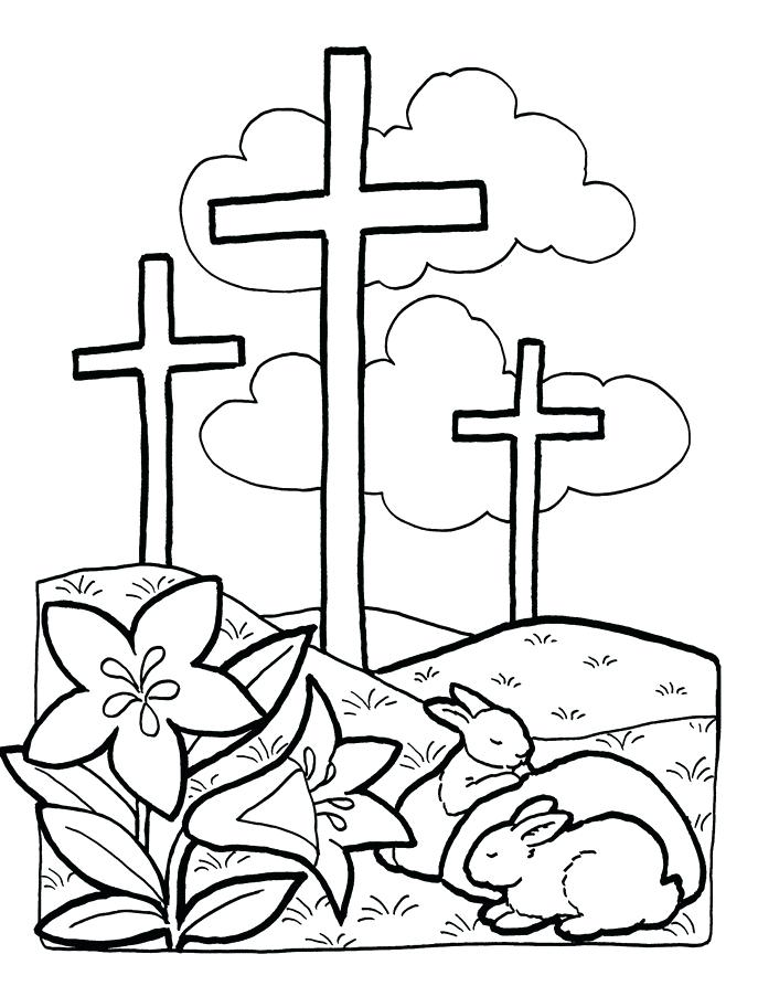 Religious Easter Coloring Pages at GetDrawings.com | Free for ...