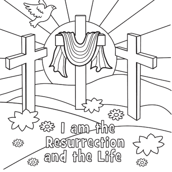 340x340 Religious Easter Coloring Pages