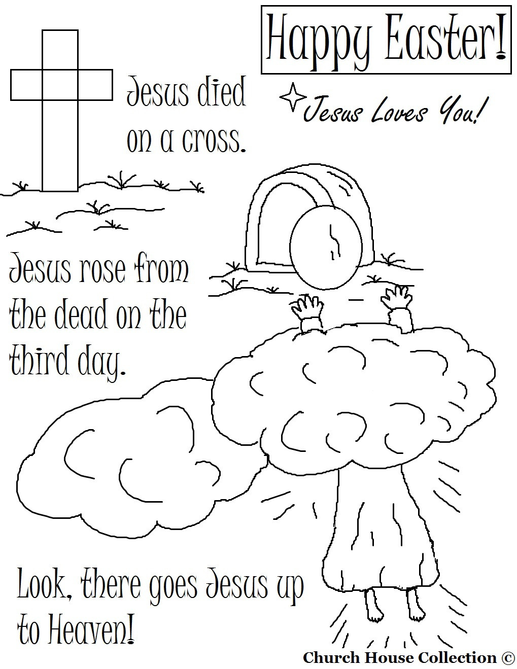 1019x1319 Religious Easter Coloring Pages Within Resurrection