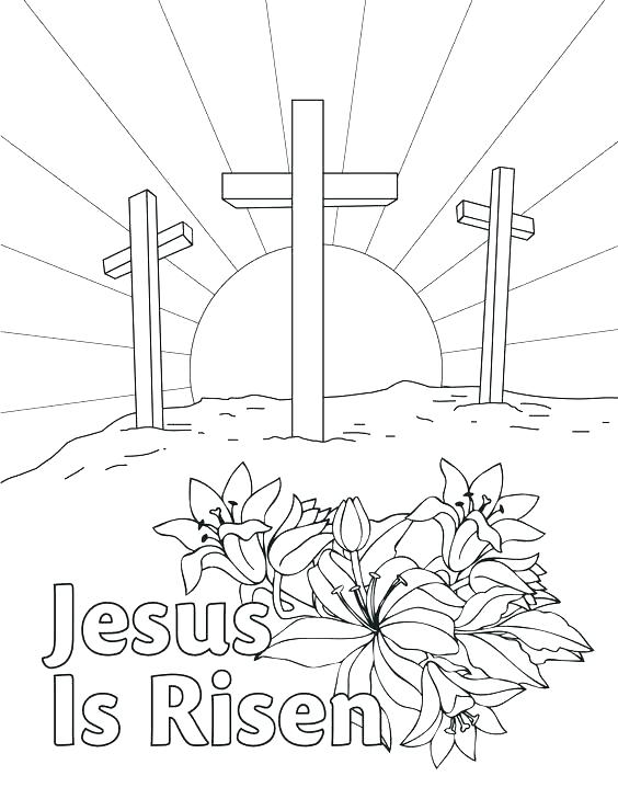 564x729 Easter Coloring Pages Religious Free Religious Easter Coloring