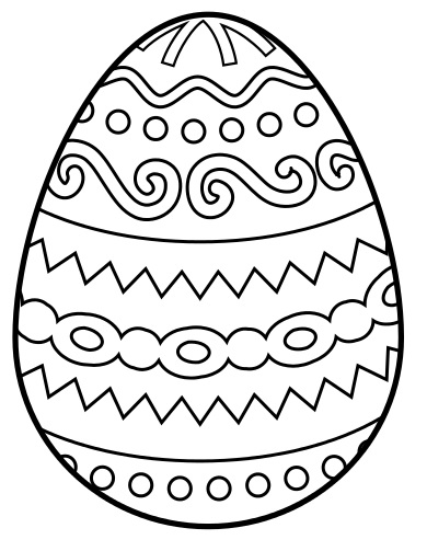 390x503 Easter Eggs Coloring Pages