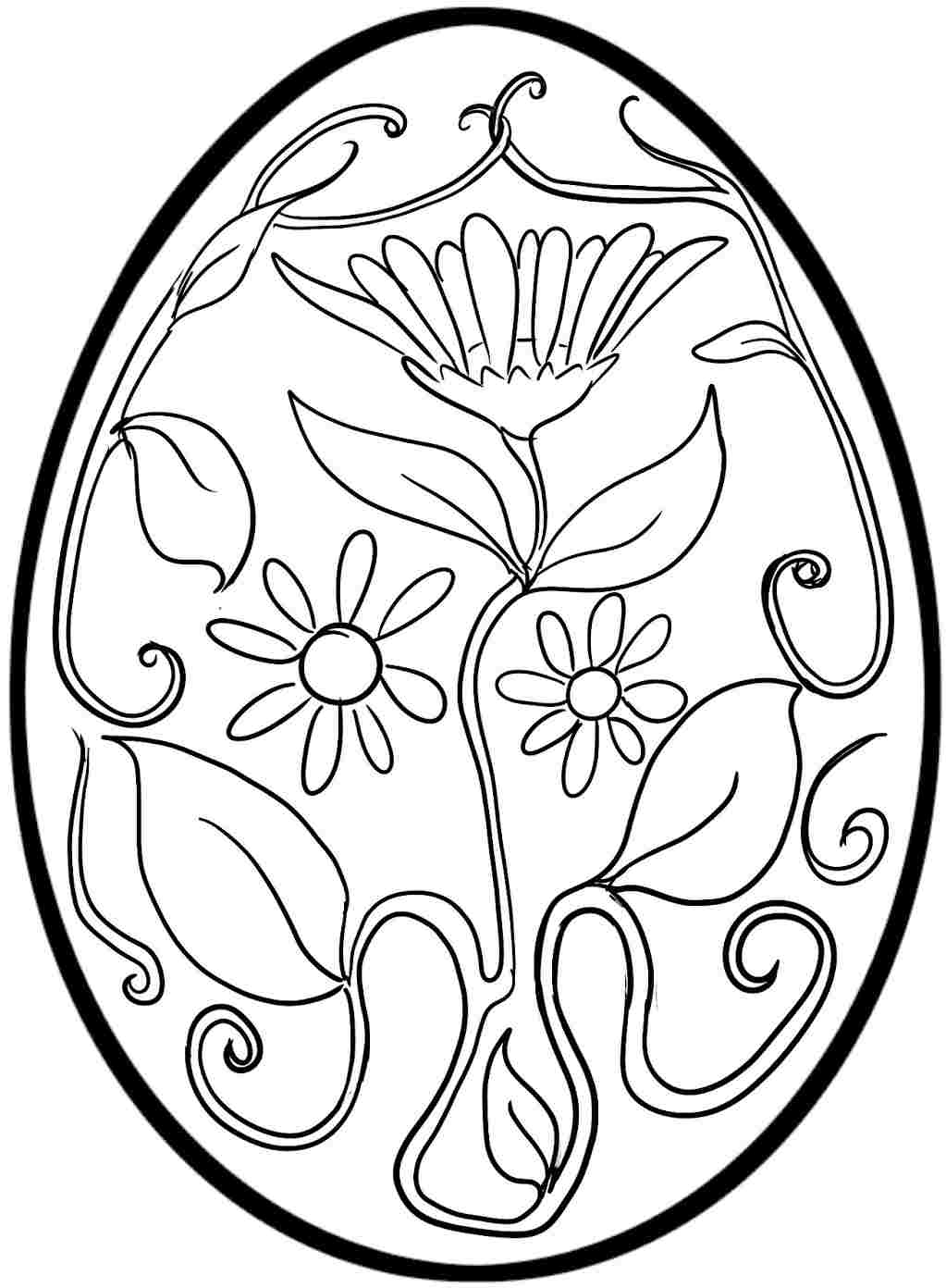 Religious Easter Egg Coloring Pages At Getdrawings Com Free For