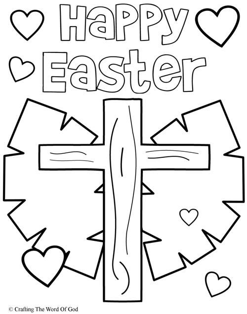 500x635 Happy Easter Coloring Page Easter Easter Colouring