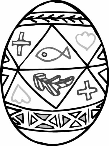 370x492 Christian Easter Egg Coloring Pages