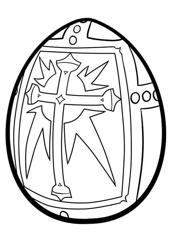 595x842 The Religious Easter Egg Coloring Page