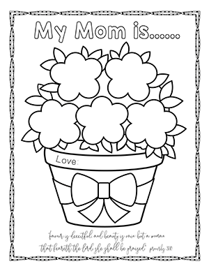 300x388 Free Mother's Day Bible Crafts, Activities, Honor Your Mother