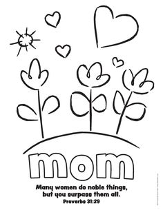 236x305 Free Mother's Day Coloring Pages