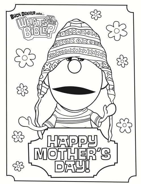 497x647 Mother's Day Coloring Page