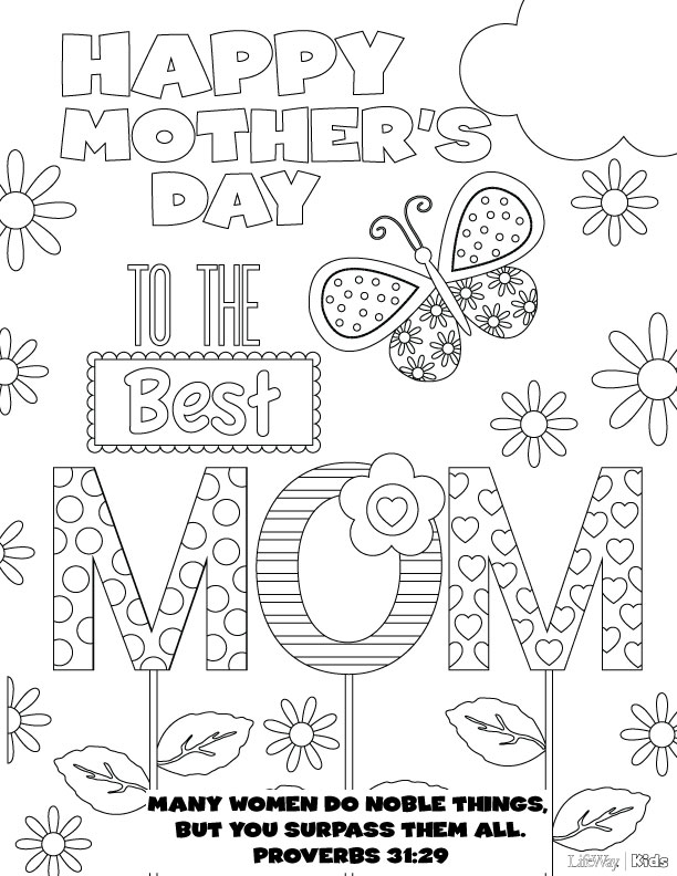 612x792 Mother's Day Coloring Pages