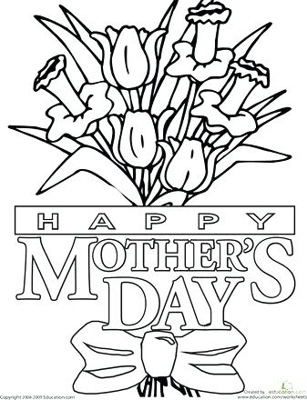 337x440 Mothers Day Coloring Pages For Church Color The Mothers Day