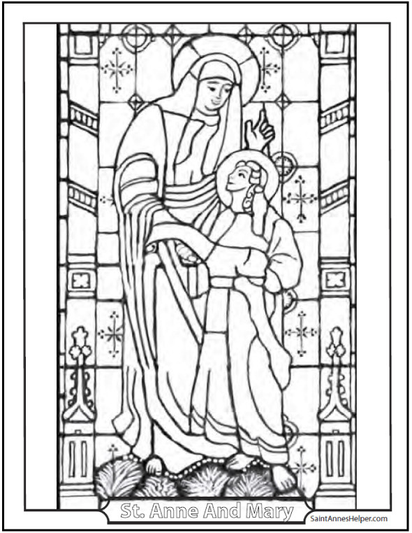 590x762 Mother's Day Coloring Pages Honor Mary And The Holy Family