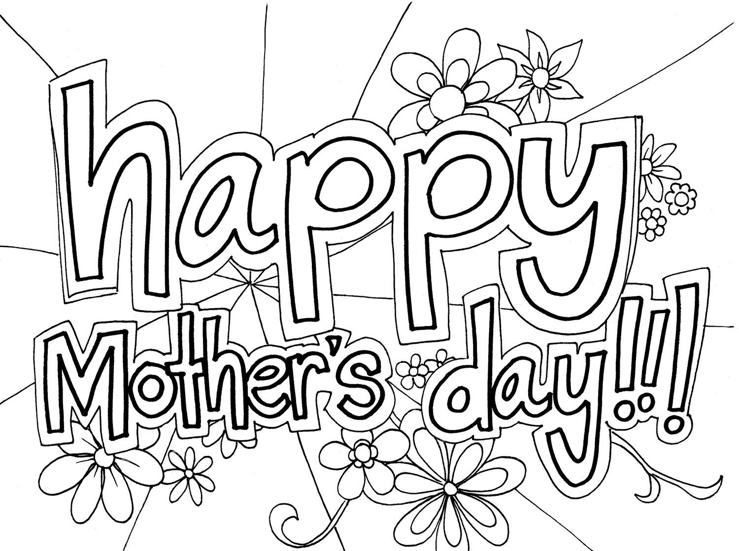 1500x1119 Christian Mothers Day Coloring Pages