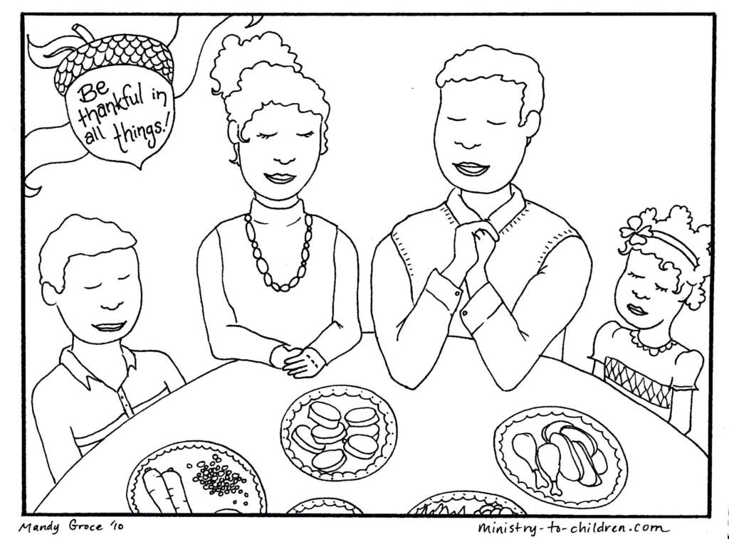1024x758 Christian Thanksgiving Coloring Pages For Kindergarten New
