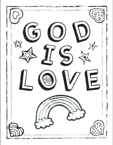 Religious Valentine Coloring Pages At Getdrawings Free Download