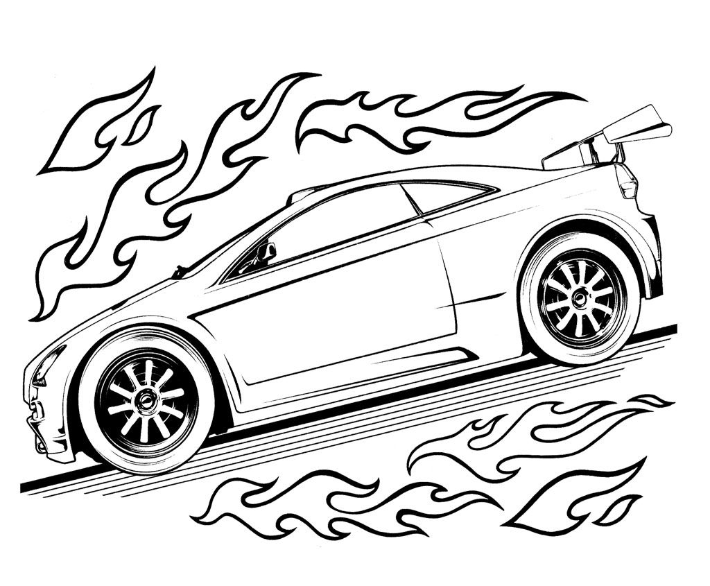 1024x845 Hot Wheels Speed Turbo Coloring Page For Kids Kids Coloring