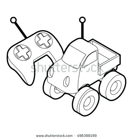 450x470 Rc Car Coloring Pages Car Coloring Page Remote Control Car
