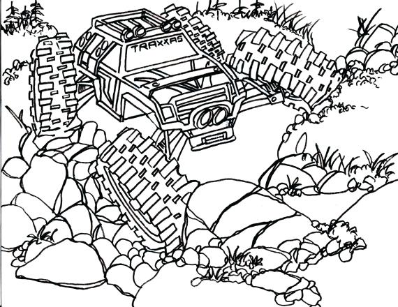 570x440 Rc Car Coloring Pages Remote Control Car Coloring Pages