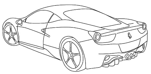 600x297 Ferrari Italia Free Coloring Page Cars, Kids Coloring Pages